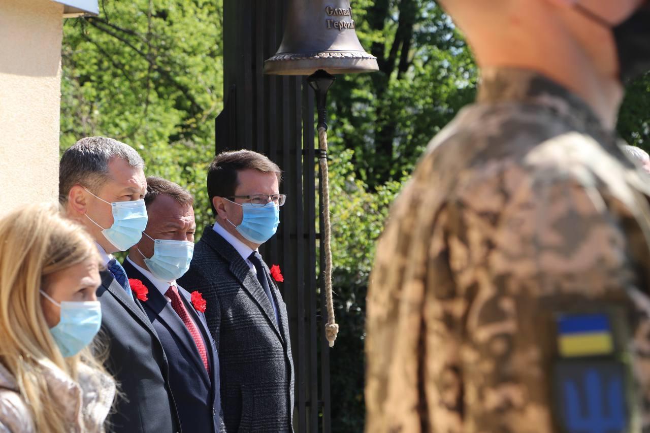 На Закарпатті відкрили меморіал «Дзвін перемоги»
